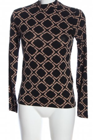 Amisu Turtleneck Shirt black-nude allover print casual look