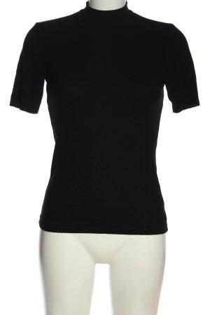 Amisu Koszulka z golfem czarny W stylu casual