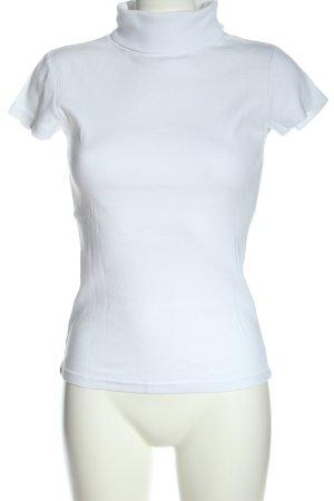 Amisu Camisa de cuello de tortuga blanco look casual
