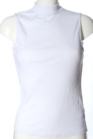 Amisu Top met rolkraag wit casual uitstraling