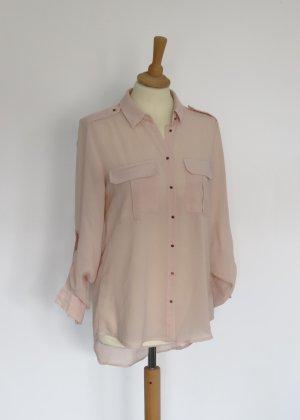 Amisu rosa rose semitransparente Bluse S