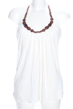 Amisu Top schiena coperta bianco stile casual