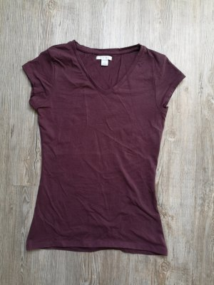 Amisu S T-Shirt Shirt Bordeaux lila