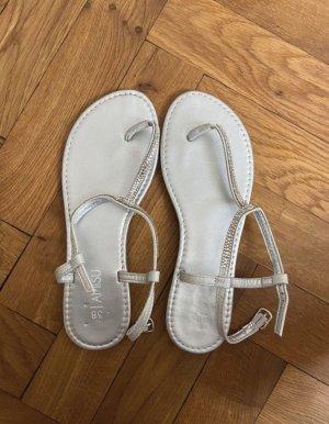 Amisu Sandalias de playa color plata
