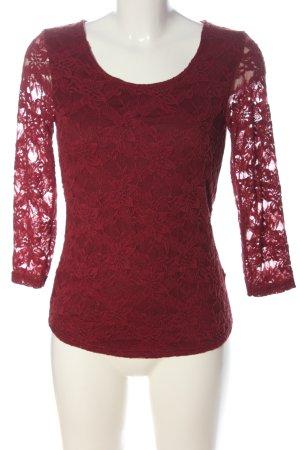 Amisu Kanten blouse rood elegant