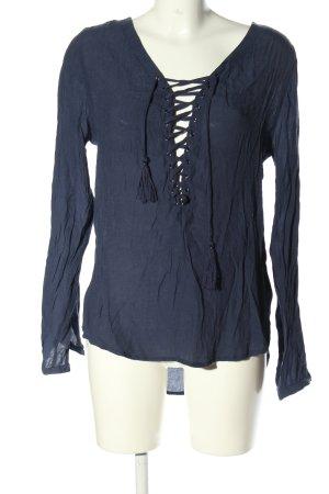 Amisu Schlupf-Bluse blau Casual-Look