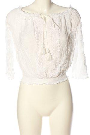 Amisu Schlupf-Bluse weiß Elegant