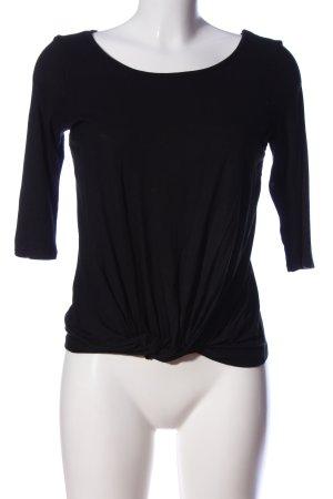 Amisu Schlupf-Bluse schwarz Casual-Look