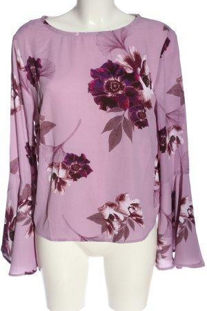 Amisu Schlupf-Bluse pink Allover-Druck Business-Look