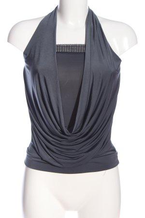Amisu Schlupf-Bluse schwarz-silberfarben Casual-Look