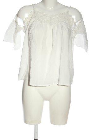 Amisu Schlupf-Bluse weiß Casual-Look