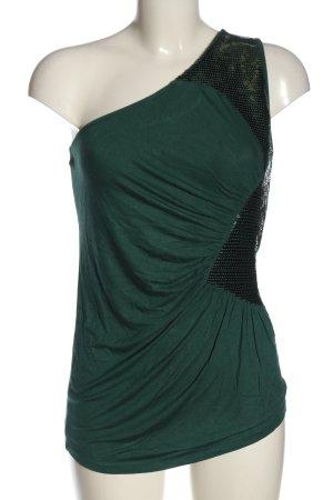 Amisu Top na jedno ramię  zielony Elegancki