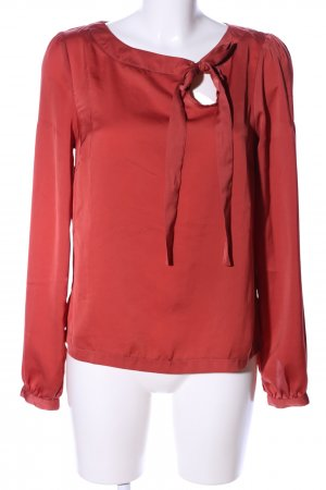 Amisu Tie-neck Blouse red business style
