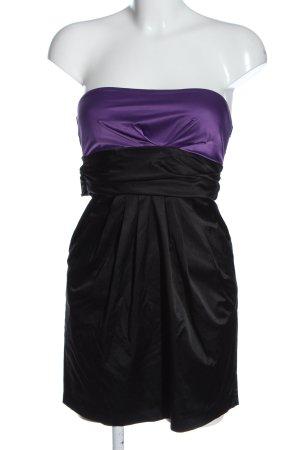 Amisu schulterfreies Kleid schwarz-lila Elegant