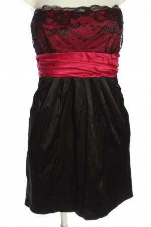 Amisu schulterfreies Kleid schwarz-pink Elegant