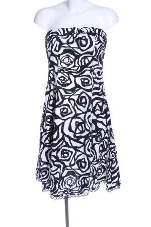 Amisu Off-The-Shoulder Dress black-white allover print elegant