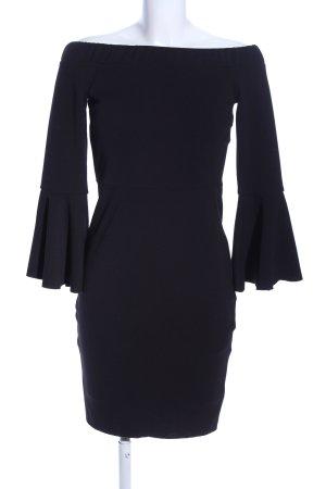 Amisu schulterfreies Kleid schwarz Elegant