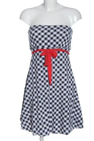 Amisu schulterfreies Kleid Allover-Druck Elegant