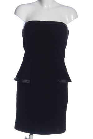 Amisu Robe épaules nues noir élégant