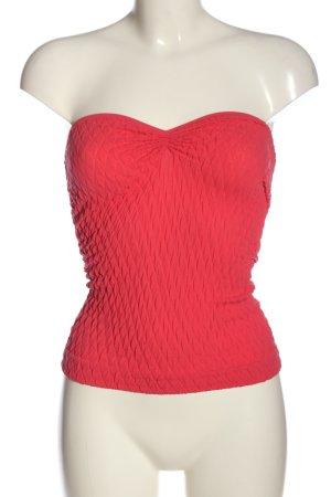 Amisu Top spalle scoperte rosso motivo trapuntato stile casual