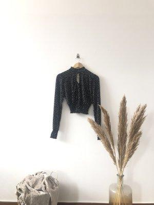 Amisu Basic topje wit-zwart