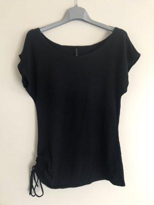 Amisu Shirt basique noir viscose