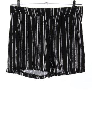 Amisu Shorts schwarz-weiß Allover-Druck Casual-Look