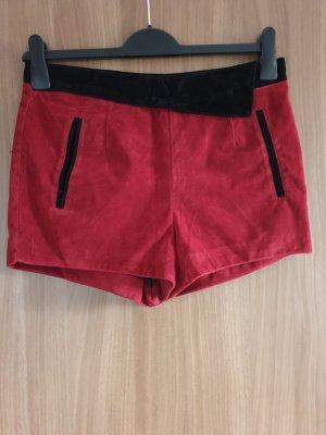 Amisu Shorts black-dark red