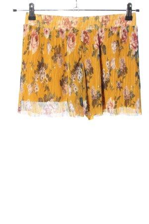 Amisu Shorts blassgelb-rot Allover-Druck Casual-Look