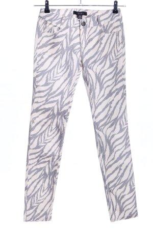 Amisu Skinny Jeans wollweiß-hellgrau Allover-Druck Casual-Look