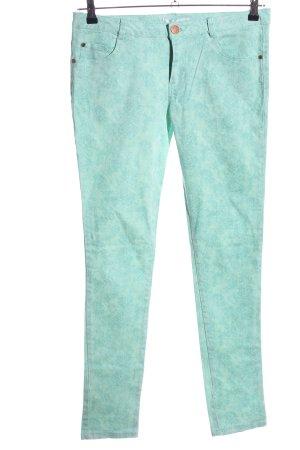 Amisu Skinny Jeans türkis Allover-Druck Casual-Look