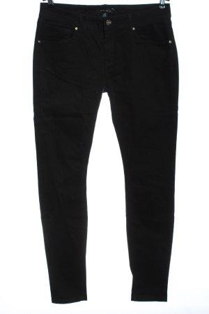 Amisu Jeans skinny noir style décontracté