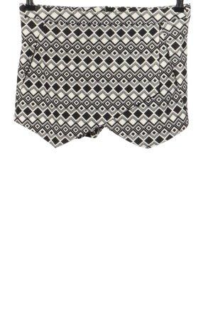 Amisu Skorts black-white graphic pattern casual look