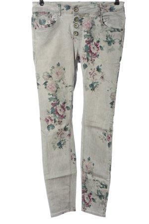 Amisu Slim Jeans Allover-Druck Casual-Look