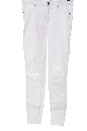 Amisu Slim Jeans weiß Casual-Look