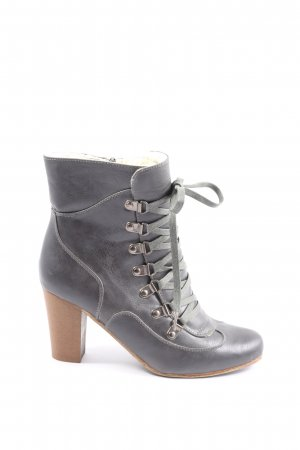 Amisu Slouch Booties light grey casual look