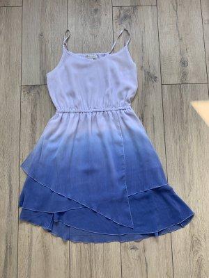 Amisu - Sommerkleid blau/weiß ombré - EUR 36