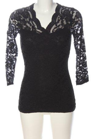 Amisu Koronkowa bluzka czarny Imprezowy wygląd