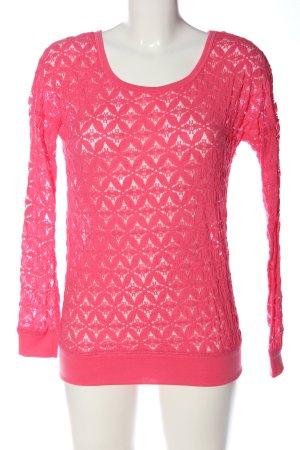 Amisu Spitzenbluse pink Casual-Look