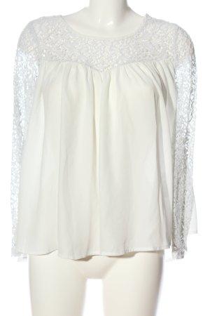 Amisu Lace Blouse white business style