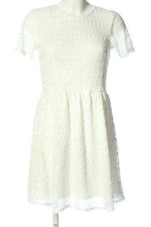 Amisu Lace Dress white casual look