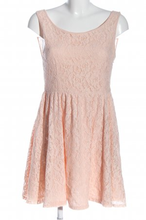 Amisu Vestido de encaje crema elegante