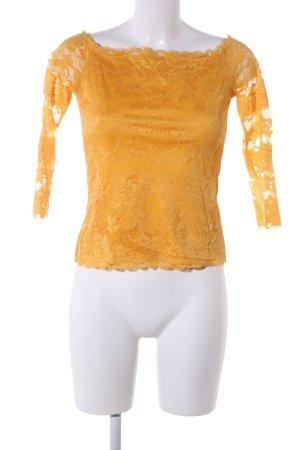 Amisu Lace Top light orange casual look