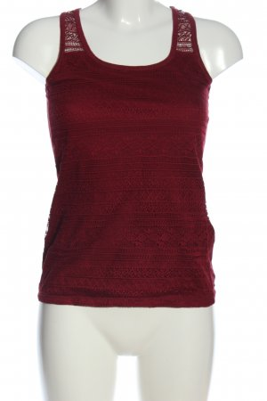 Amisu Lace Top red casual look