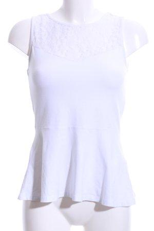Amisu Top de encaje blanco estilo «business»