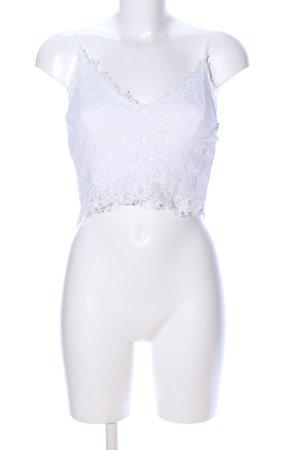 Amisu Kanten topje wit extravagante stijl