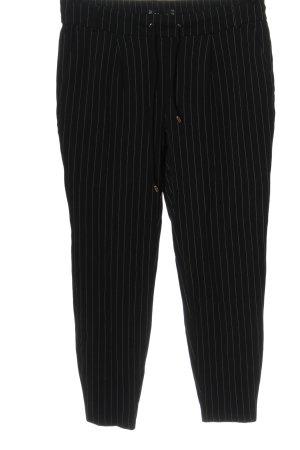 Amisu Spodnie materiałowe czarny Wzór w paski W stylu casual
