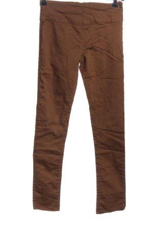 Amisu Spodnie materiałowe brązowy W stylu casual