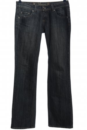 Amisu Straight-Leg Jeans schwarz meliert Casual-Look