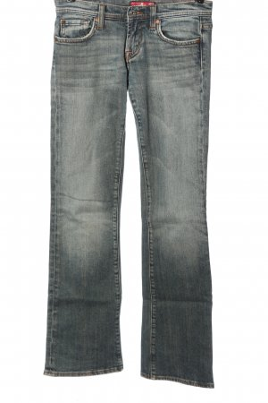 Amisu Jeansy z prostymi nogawkami niebieski W stylu casual
